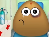 Pou in the ambulance
