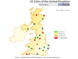 25 cities of the United Kingdom