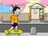 Doraemon late to school