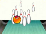 flash игра Angry birds. Bowling