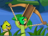 flash игра Angry birds: bubbles