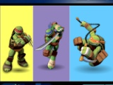 Ninja turtles. Colours memory