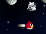 Angry birds. Run in space