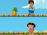 flash игра Dora pick fruits