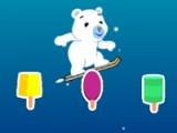 flash игра Steve the bear. Snowboarding adventure