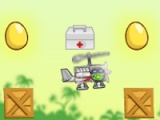 flash игра Bad Pig Piggies. Drive Helicopter