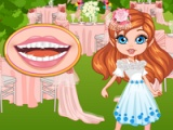 flash игра Flower girl. Bad teeth