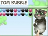 flash игра Talking Tom. Bubble
