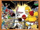flash игра Sort my tiles Bunny vs Simpson
