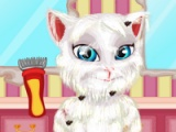 flash игра Talking Angela. Shaving