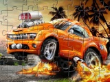 flash игра Funny Cars Jigsaw