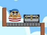 flash игра Pou pirate shot