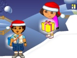 flash игра Dora & Diego. Chistmas gifts