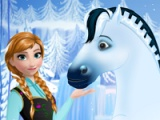flash игра Anna's royal horse caring