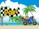 flash игра Pou. Beach Ride