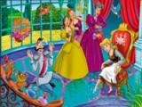 Cinderella. Online coloring page