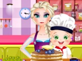 Elsa and Rosy. Pancakes day