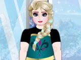 flash game Elsa di gym