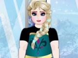 Elsa at the gym