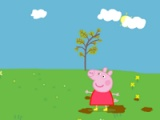 Peppa Pig. Jumping in puddles