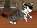 flash игра Pirate cat with broken leg