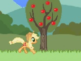 flash игра Applejack's hurdle jumpin'