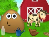 flash игра Pou at the farm