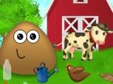 flash игра Pou at the farm