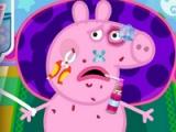 flash игра Peppa Pig injured