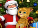 flash игра Talking Ginger & Santa