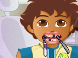 Dora and Diego at dentist