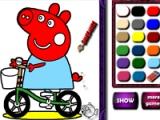 flash игра Piggy on bike. Coloring