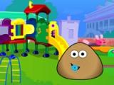 flash игра Baby Pou Kindergarten