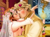 flash игра Anna wedding kiss