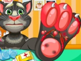 flash игра Talking Tom. Foot doctor
