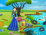 Princess Anna. River cleaning