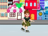 flash game Baby Anna. Winter shopping