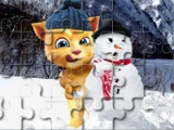 flash игра Talking Ginger and snowman