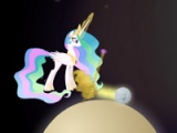 flash игра Celestia's cake golf. Adventure in space