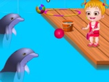 flash игра Baby Hazel. Dolphin tour