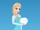 flash игра Elsa vs Olaf. Snowball fight