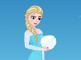 Elsa vs Olaf. Snowball fight