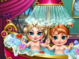 flash game Frozen. Baby bath