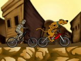 flash игра Scooby. BMX action