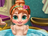 flash game Anna's baby wash