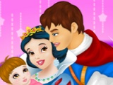flash game Snow White and Prince care newborn princess