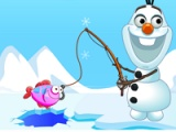 flash игра Frozen Olaf. Fishing time