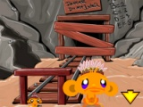 flash игра Monkey go happy. Western-2