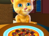 flash игра Ginger cooking pizza