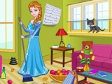 Princess Elsa. Kitty room cleaning